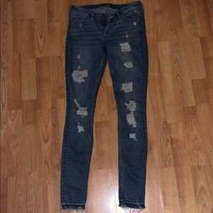 Super skinny ripped Hollister jeans